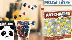 Patchwork társasjáték bemutató példajáték Games, Scrappy Quilts, Gaming, Plays, Game, Toys