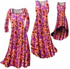 Customize Red, Orange & Purple Tye Dye Bursts Slinky Print Plus Size & Supersize Standard or Cascading A-Line or Princess Cut Dresses & Shirts, Jackets, Pants, Palazzo's or Skirts Lg to 9x