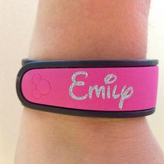 Glitter Name Decal for your Disney Magic Band - Completely Customizable - Glitter Upgrade Available