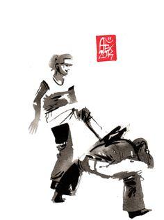 Encres : Capoeira – 634 [ #capoeira #watercolor #illustration]