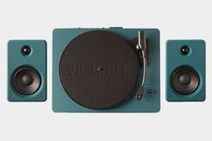 EP-33 Dark Green Bluetooth Turntable With Speakers - 53% Off