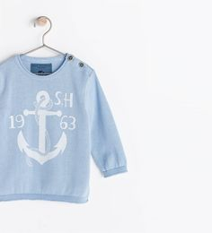 ZARA - KIDS - ANCHOR SWEATER WITH BUTTONS