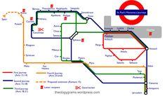 ...los viajes del apostol Pablo...como si fuese en Metro.