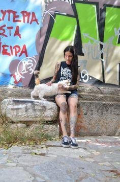 tattoo cat athens plaka nasmissluck nastazia ink girl greece summer sun