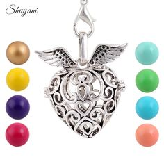 Find More Pendant Necklaces Information about 10pcs/lot Living Lockets Pendant For Women Heart Wing Pregnancy Balls Aromatherapy Essential Oil Diffuser Necklace Mexico Balls,High Quality pendant diffuser,China pendant labradorite Suppliers, Cheap pendant jewellry from shuyani Official Store on Aliexpress.com