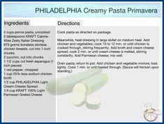 Philadelphia Pasta, Creamy Pasta Primavera, Better Music, Large Skillet, Music Labels, Italian Dressing, Penne Pasta, Boneless Skinless Chicken, Chicken And Vegetables