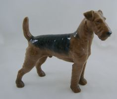 Large B&G Royal Copenhagen Airedale Terrier 2099