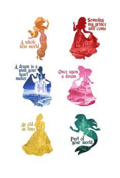 Disney Princesses Art Print by MargaHG