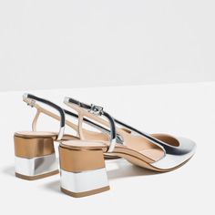 LAMINATED BLOCK HEEL SHOES-Shoes and bags-WOMAN-NEW IN   ZARA Macedonia