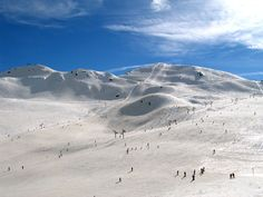 Serre Chevalier, France - snowboarding in winter