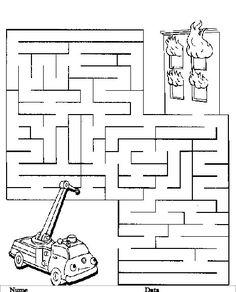 Labirint - Planse de colorat si educative