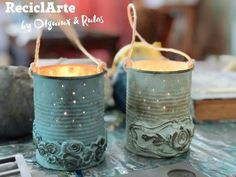 Save your cans! Tin Can Crafts, Crafts To Sell, Diy And Crafts, Orchard Design, Recycled Tin Cans, Iron Orchid Designs, Chalk Paint Projects, Crafts For Seniors, Altered Bottles