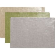 grey coated linen-cotton placemats in table linens | CB2