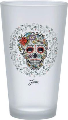 Fiesta® 16 oz. Skull and Vine Sugar Frosted Cooler Set of 4. Complements Fiesta® Skull and Vine Sugar Dinnerware Collection. Made in the USA | Fiesta Factory Direct