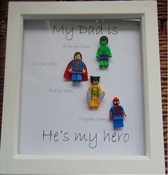 My dad is my hero Picture frame for all by WendysWeddingCorner