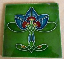 "Original English Art Nouveau tile c1909 6""x6""Tile ref 141"