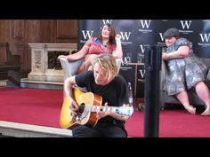 Jamie Campbell Bower sings and plays guitar at Waterstones signing in London 4/07/13 part one