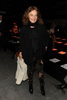 Diane von Furstenberg Photo - Alexander Wang - Front Row - Fall 2010 MBFW