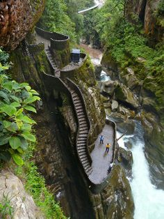 Canyon Steps, Pailon del Diablo, Ecuador. http://www.lonelyplanet.com/ecuador   - Explore the World with Travel Nerd Nici, one Country at a Time. http://TravelNerdNici.com