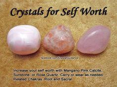 ✯crystals for self worth✯ Crystals stones rocks magic love healing