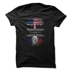 Awesome Tee American Grown with French Roots T-Shirts