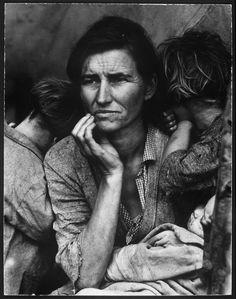 La icónica foto de una recolectora de legumbres y madre de siete hijos, durante el Dust Bowl. (1936)