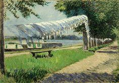 Caillebotte Gustave Trocknende Waesche am Ufer der Seine 1892.jpg