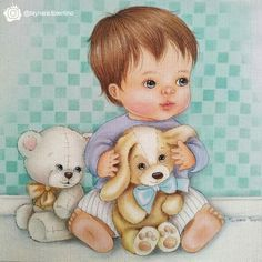 Felt Decorations, Cute Images, Fabric Painting, Dory, Baby Design, Baby Boy, Teddy Bear, Pets, Animals