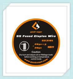 >> Click to Buy << GeekVape Fused Clapton SS316 Tape Wire (26GA*2/Paralleled + 30GA) #Affiliate