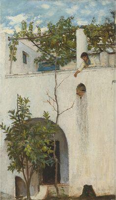 John William Waterhouse ~ Lady On A Balcony
