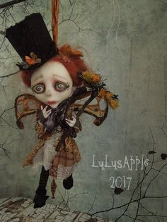 Meep Chimney Sweep Fairy hanging Art Doll OOAK Lulus by LuLusApple