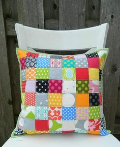 simple patchwork pillow by s.o.t.a.k handmade, via Flickr