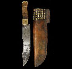 Нож и ножны, Черноногие. 1870 г.
