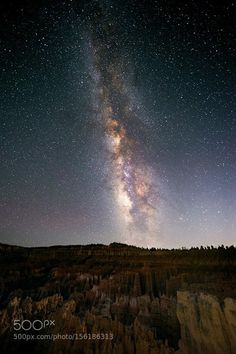The Milky Way and some trees. In the mountains of Bryce Canyon Utah.  The Milky Way and some trees. In the mountains of Bryce Canyon Utah.  Camera: NIKON D610 Lens: 14.0-24.0 mm f/2.8 Focal Length: 14mm Shutter Speed: 30sec Aperture: f/2.8 ISO/Film: 6400  Image credit: http://ift.tt/1XITA6v Visit http://ift.tt/1qPHad3 and read how to see the #MilkyWay  #Galaxy #Stars #Nightscape #Astrophotography
