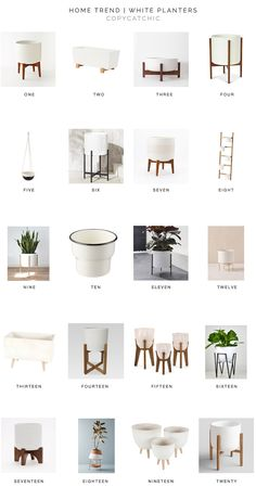 Home Trends | our favorite modern white minimalist white plant pots and planters from copycatchic luxe living for less budget home decor and design looks for less