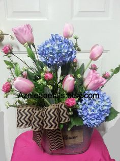 Spring Floral Arrangement Easter Arrangement by Azeleapetals