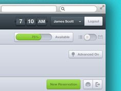 reservation interface