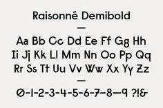 Benjamin Critton Art Dept. | Raisonné Demibold & Demibold Italic [2011]