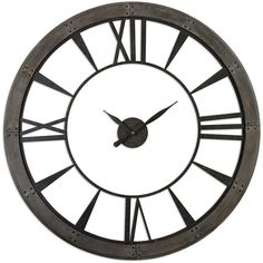 Shane Industrial Loft Silhouette Rustic Bronze Wall Clock ($482) ❤ liked on Polyvore featuring home, home decor, clocks, bronze home decor, bronze wall clock and bronze clock