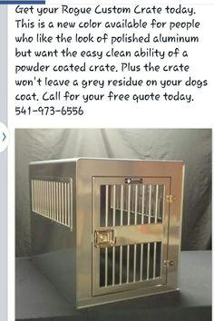 aluminum dog crate