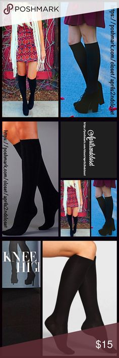 Tall Knee High Boot Socks  NEW WITH TAGS   Tall Knee High Boot Socks  * Super soft & comfortable fabric; Ribbed cuff  * Opaque Knit construction (not sheer). * Stretch-to-fit * One size fits most; Pull on & to the knee style  Fabric: 62% Cotton, nylon, & 2% spandex; Machine wash Item# Color: Black   No Trades ✅Bundle Discounts✅ Boutique Accessories Hosiery & Socks
