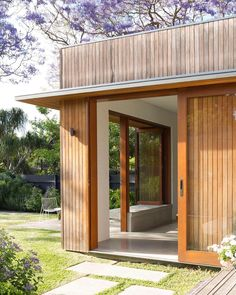 Denney House is a renovation and extension project completed by Sam Crawford Architects, a design practice based in Sydney, NSW. Australian Architecture, Green Architecture, Architecture Design, Bungalow Renovation, Small Modern Home, Green Building, Cladding, Pergola, Exterior