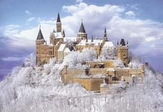 Hohenzollern Castle Hechingen Germany with snow pieces) Places Around The World, Oh The Places You'll Go, Places To Travel, Around The Worlds, Beautiful Castles, Beautiful World, Beautiful Places, Photo Chateau, Germany Castles