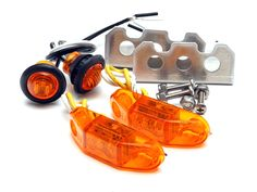 This is the GenRight Off Road 4 light Stealth Side Marker Light Kit. It includes the hard to find super bright amber colored LED's. It can be used as a front blinker & running light. Jeep Mods, Jeep Tj, Jeep Wrangler Fenders, Power Coating, Off Road Tires, Jeep Parts, Fender Flares, Markers, Led