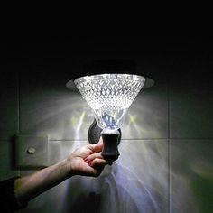 8 - LED White Solar Powered Wall Mounted Garden Light – LightSuperDeal.com