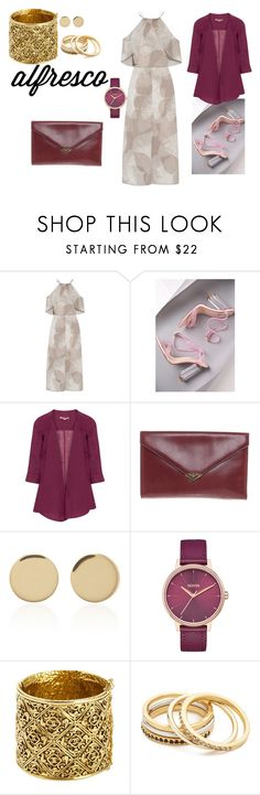 """""""Mulberry wine"""" by phocka-alba on Polyvore featuring Halston Heritage, Cape Robbin, Isolde Roth, ESCADA, Magdalena Frackowiak, Nixon, Chanel and Madewell"""
