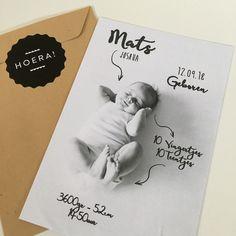 Stoer geboortekaartje  www.zojoann.nl   #babyboy #baby #geboortekaartje #birthannouncement