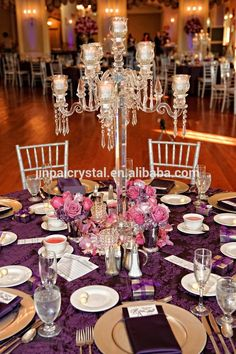 91cm 35.82inch Tall Top Crystal Candelabra Centerpieces Wedding For Tables