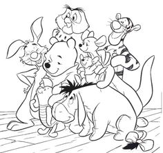 Pooh Bear And Friends Coloring Pages – AZ Coloring Pages