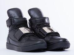 Asger Juel Larsen Black Metal Sneaker in Black at Solestruck.com